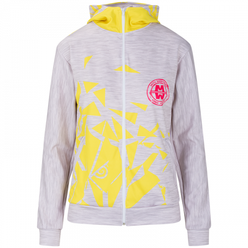 LADY POWER hoodie grey yellow - front