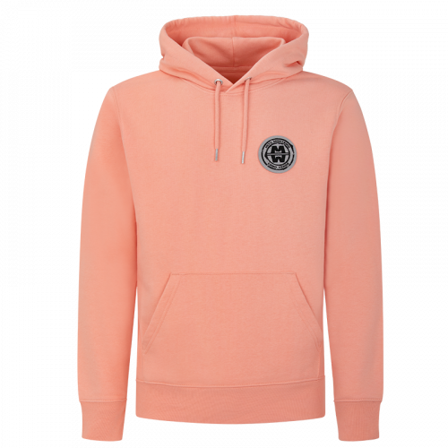 Man ESSENTIAL COTTON - Hoodie Soft Patch SUNSRISE ORANGE