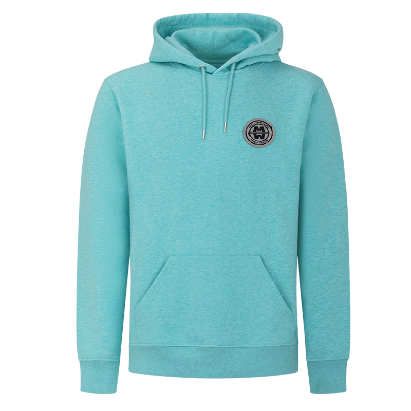 Man ESSENTIAL COTTON - Hoodie Soft Patch WATER GREEN