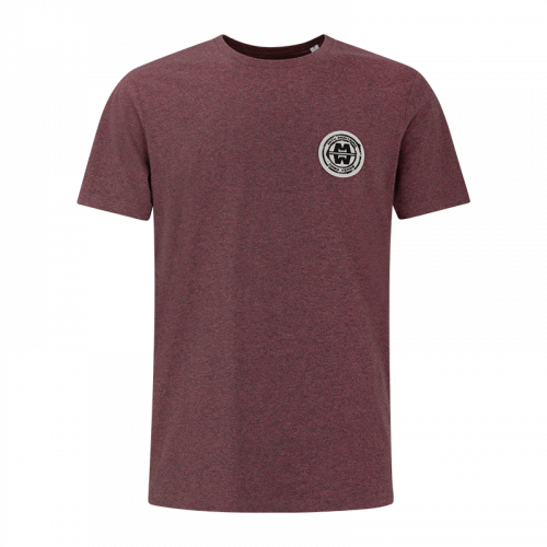 Man ESSENTIAL COTTON - Soft Patch T-shirt - CROWBERRY MELANGE