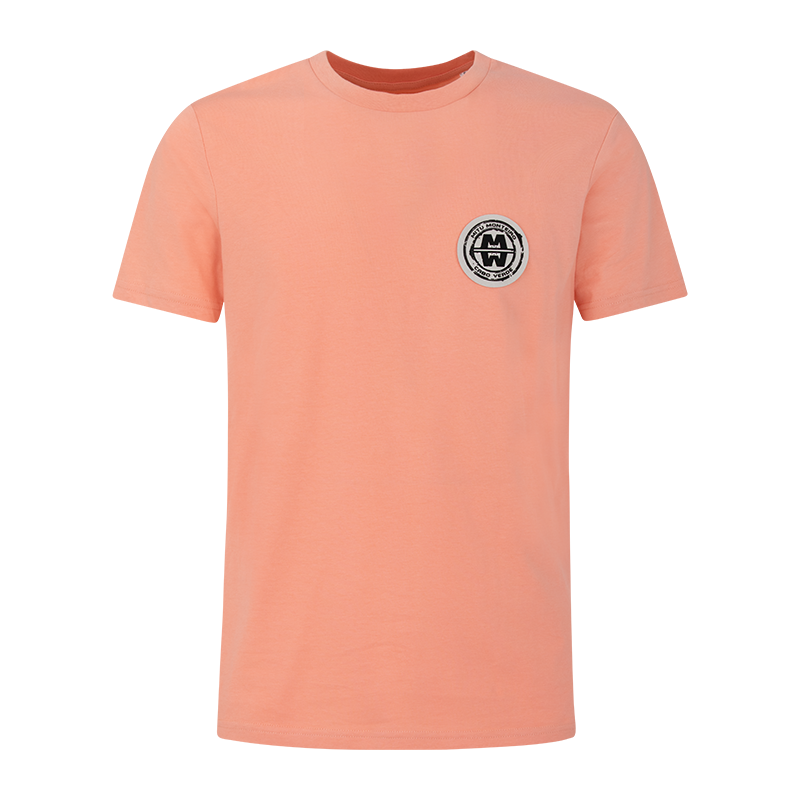 Man ESSENTIAL COTTON - Soft Patch T-shirt - SUNRISE ORANGE