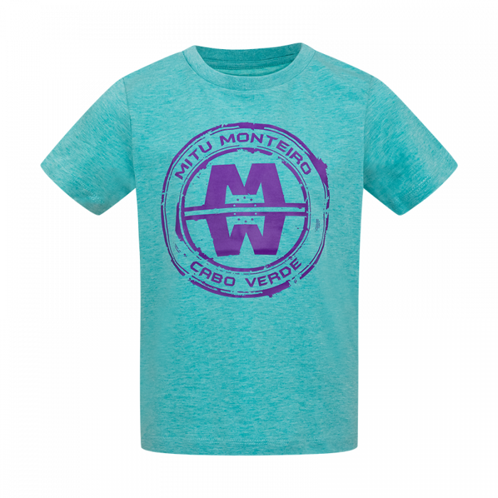 Mini t-shirt big logo green