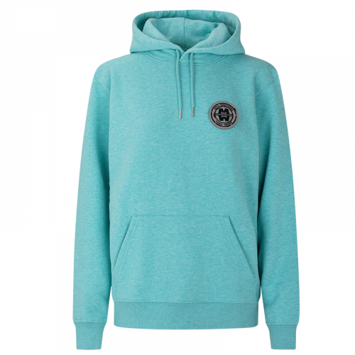 LADY ESSENTIAL COTTON - soft patch hoodie WATER GREEN MELANGE